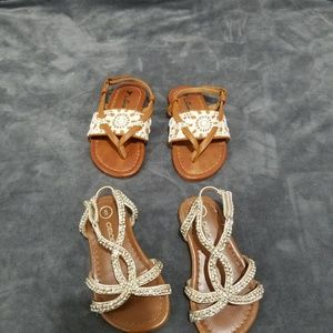 2 pair girls sandals